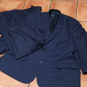Geoffrey Beene 52R Blue Summer Suit